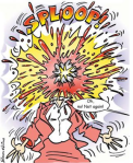 brain explodes